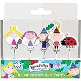 Juego de 5 velas moldeadas de Ben & Holly's Little Kingdom para decoración de cupcakes