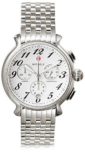 Michele MWW24A000001 38mm Silver Steel Bracelet & Case Anti-Reflective Sapphire Women's Watch