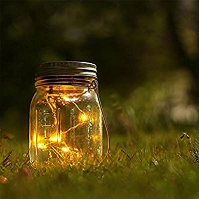 3 Pack Solar Mason Gals Deckle – Mason Solar String Licit Deckel -Festival Garten Hinterhof Hochzeit Party Dekor LED Solar Beleuchtung- Dracarys