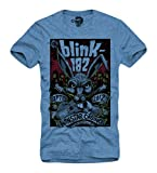 E1Syndicate T-Shirt Blink 182 Punk Rock A Day to Sum 41 DC Blue S/M/L/XL