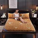 CNZXCO Flanell Bett matratzenauflage Tatami-matratze, Futon Tatami matten schlafen Matratzenschoner ALLERGIKER-GEEIGNET Anti-bakterien Verdicken sie-A 90x200cm(35x79inch)
