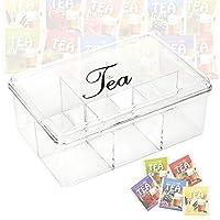 Acrylique Boîte à thé 6 sections