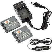 DSTE 2-pacco Ricambio Batteria + DC02E Caricabatteria per Sony NP-FR1 Cyber-shot DSC-F88 DSC-P100 DSC-P100/L DSC-P100/LJ DSC-P100PP DSC-P100/R DSC-P100/S DSC-P120 DSC-P150 DSC-P150/B