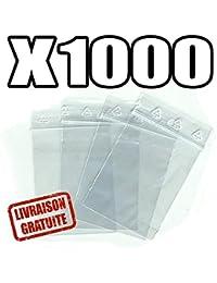 Sachets pour bijoux ou pochette plastique zip - Format 40 x 60 mm / Lot de 1000