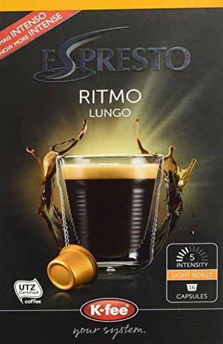 ESPRESTO Ritmo Lungo Kaffeekapseln Stärke 5, K-fee System, 6er Pack (6x124 g)