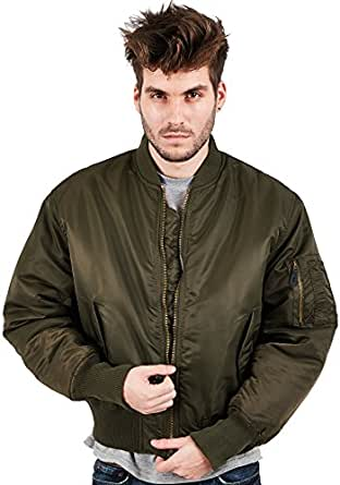 Mens Location MA1 Pilot Military Army Flight Bomber Jacket Combat Coat Size S