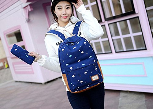LAAT , Damen Rucksackhandtasche, schwarz (schwarz) - UM183613C83FH162 dunkelblau