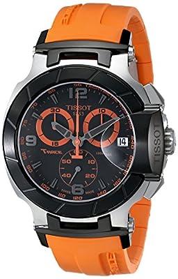 Tissot T-RACE T0484172705704 - Reloj de caballero de cuarzo, correa de goma
