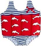 Beverly Kids Jungen UV Schutz Bojen-Badeanzug Costa Del Sol, rot/blau/weiß, 92, 20007