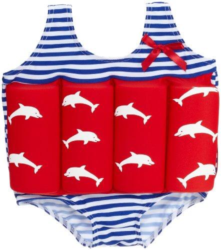Beverly Kids Jungen UV Schutz Bojen-Badeanzug Costa Del Sol, rot/blau/weiß, 110, 20007 (Weiß Badeanzug Rot, Blau Und)