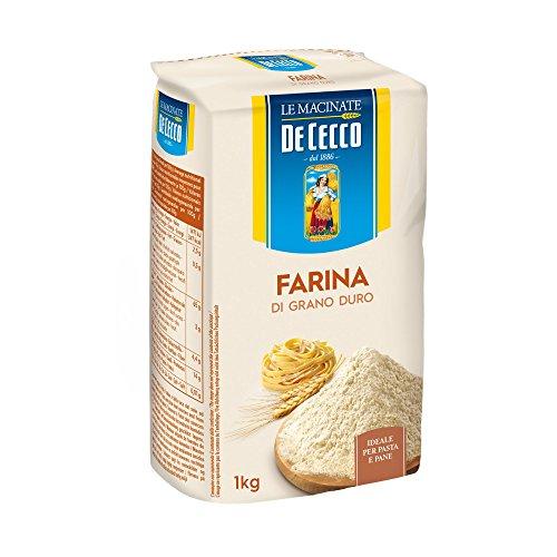 farina di grano duro MEHL FARINA Grano duro De Cecco -Hartweizenmehl (01 Kg)