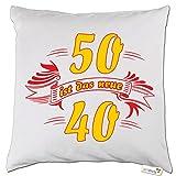 getshirts - RAHMENLOS® Geschenke - Kissen - Fun - 50 ist das neue 40 - weiss uni