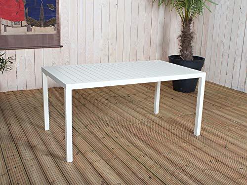 Residence - Table Rectangulaire avec Lattes Crème