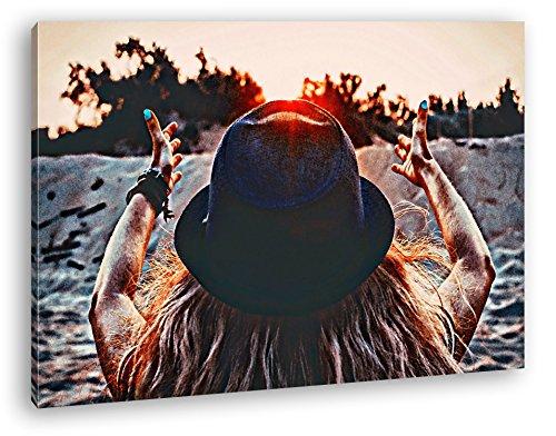 Sonnenstrahlen empfangen Format: 100x70 Effekt: Zeichnung als Leinwand, Motiv fertig gerahmt auf Echtholzrahmen, Hochwertiger Digitaldruck mit Rahmen, Kein Poster oder Plakat Wüste Pralinen