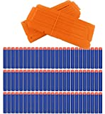 100pcs Dardi Ricarica + 2 pz Riserva Capacità da 12 Dardi Clip Caricatore per Nerf N-Strike Serie Elite
