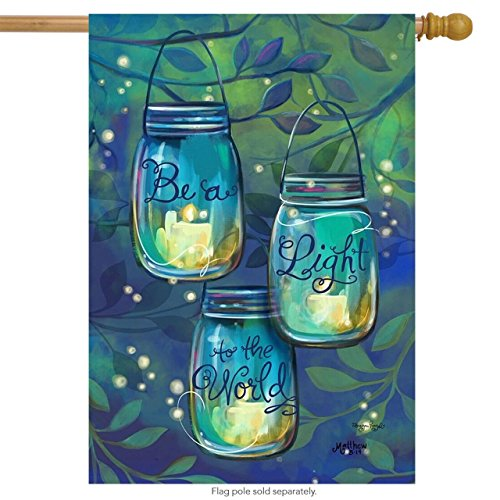 Be A Light Spring House Flag Inspirational Candles for Party Outdoor Home Decor(Size: 12.5inch W X 18 inch H) -