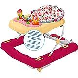 Schaukel, Lauflernhilfe und Spielsitz in Einem mit verstellbarem, herausnehmbarem Sitz • Baby Walker Gehfrei Lauflernwagen Babywippe Activity Laufwagen