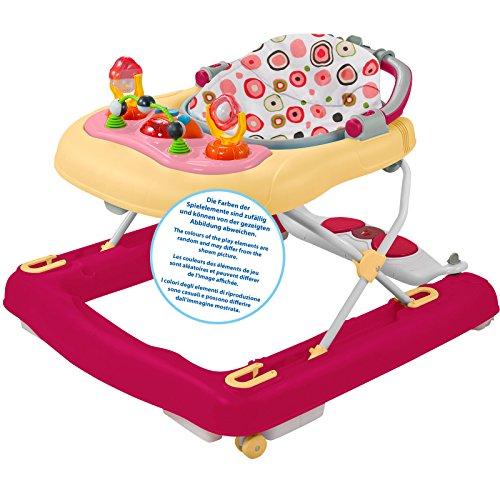 Unbekannt Schaukel, Lauflernhilfe und Spielsitz in Einem mit verstellbarem, herausnehmbarem Sitz • Baby Walker Gehfrei Lauflernwagen Babywippe Activity Laufwagen
