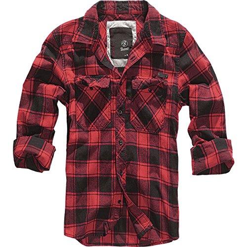 Brandit Check Shirt Herren Flanell Hemd B-4002 Red-Black
