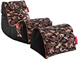 GAMEWAREZ Relax Series RX Camouflage Sitzsack Set, Made in Germany. für PS4, XBOX360, XboxOne, Nintendo DS, Nintendo Switch, Smartphone. Polyesterfaser, Fabric, Camouflage