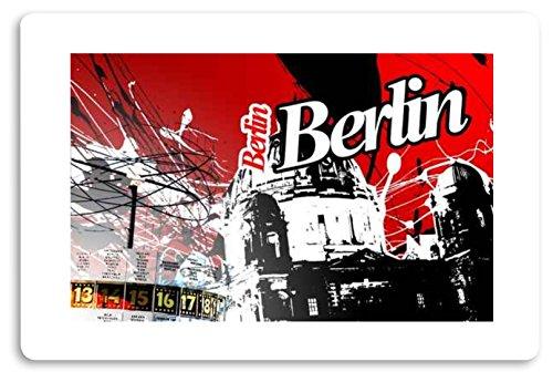 """"""" Berlin """" Fussmatte bedruckt Türmatte Innenmatte Schmutzmatte lustige Motivfussmatte"""