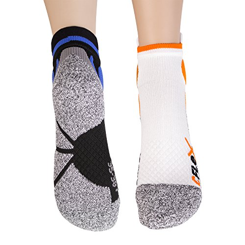 4 Paar Original CFLEX Running Sneaker Socks für Sie und Ihn - stoßabfedernd, schützend, unterstützend und klimatisiert - Größen 35-46 wählbar - Top Qualität von celodoro Weiss/Mix