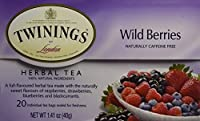 Twinings Herbal Wild Berries Bagged Tea, 20 Count