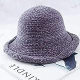 Lnyy Hut-Frühling und Winter Mode All-in-Hand Fischerhut Faltbare Stricken Hut