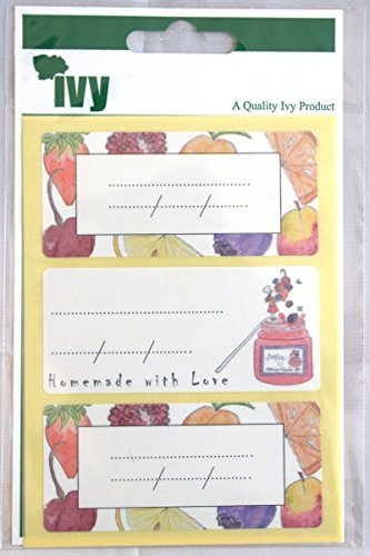 Ivy Jam Jar Labels Self Adhesive Sticky Labels 34mm x 75mm (12 Stickers) by Ivy
