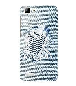 Takkloo Jean shade pattern ( blue pattern, trendy pattern, beautiful pattern) Printed Designer Back Case Cover for Vivo V1