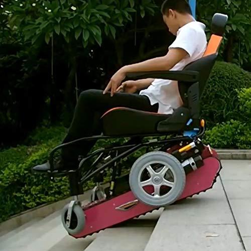 Silla de Ruedas de Escalada Eléctrica Multifuncional para Personas Discapacitadas Subir y...