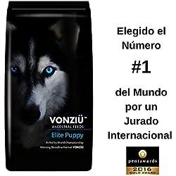 Vonziu - Alimento para cachorros y perros jovenes, Seco Rico en Pollo Pescado (Omega 3) Vitaminas y Minerales, Raza Pequeña Mediana Grande y Gigante, 100% Ingredientes Orgánicos de la UE, 10 kg