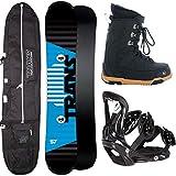 Unbekannt Herren Snowboard Trans Rental 160 cm Wide + FTWO Sonic BINDUNG L + Boots + Bag