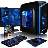 VIBOX Killstreak GS850T-47 Paquet Gaming PC - 4,2GHz AMDFX8-CoreCPU, GPUGTX1050 Ti, Avanzado, Ordenador de sobremesa para oficina Gaming vale de juego, con monitor, Iluminaciàninterna azul (3,3GHz (4,2GHz Turbo) SuperrápidoAMDFX8300 Ochoprocesador8-CoreCPU, Nvidia GeforceGTX1050 Ti 4 GB TarjetagráficaGPU, 16 GB 1600MHzDDR3RAM, 120GBunidad de estadosàlidoSSD, Discoduro2TB, 85+ PSU, F3 Azul, Ningún sistema operativo)