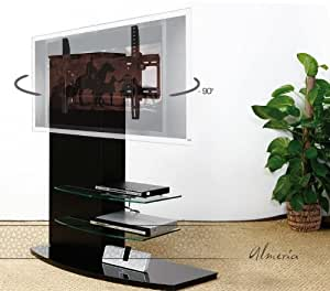 Casado almeria stand 1110bl meuble tv fixation murale rotatif 90 amazon - Meuble tv fixation murale ...