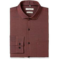 Excalibur Men's Formal Shirt (8907542771028_400016760705_40_Rust)