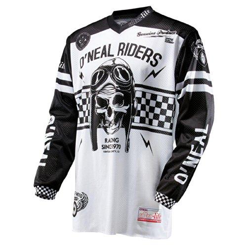 O'Neal Ultra Lite LE´70 Jersey Schwarz Weiß Retro Offroad FR Enduro BMX MTB Langarm Trikot, 0019-1, Größe Small