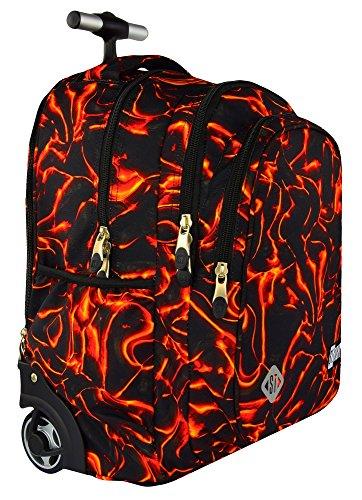 St.right lava red super zaino trolley scuola per ragazza bambina