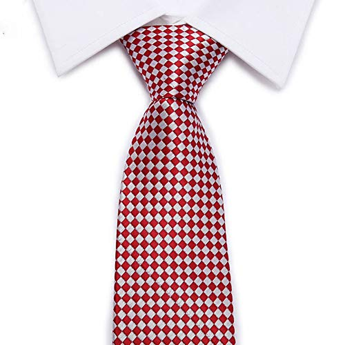 FAHFO Krawatten Herren Luxus Seide Krawatten Plaid Formale Geschäft Hochzeit Plaid Cravatte Seta 8 cm Krawatte, 25 Formale Krawatte