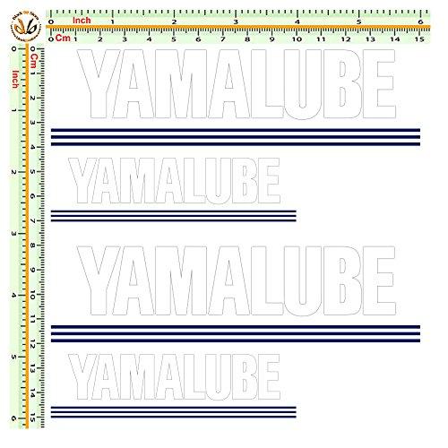 Black Bit - sticker sponsor yamalube adesivi stampati e prespaziati pvc bianco helmet 4 pz.