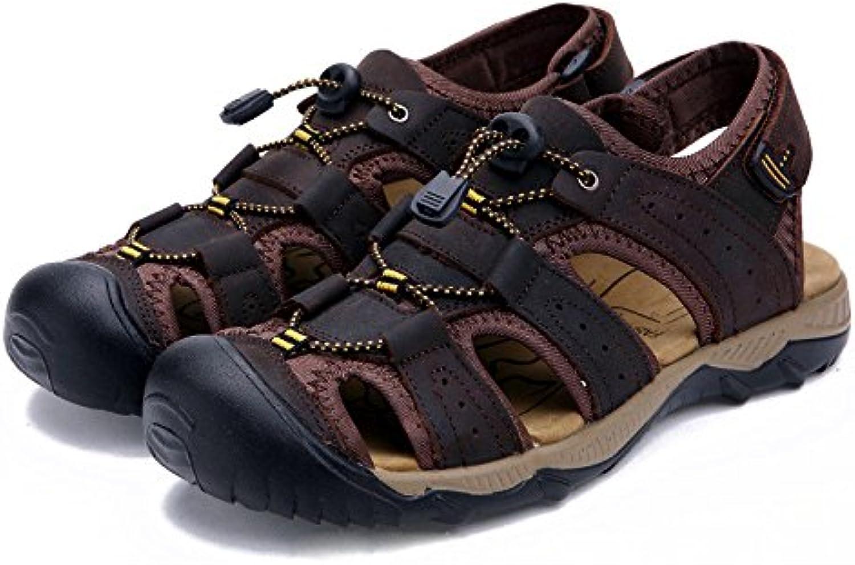Sandalias De Cuero Para Hombres Zapatos Cómodos Cerrados Zapatos De Moda Verano Zapatos Al Aire Libre  -