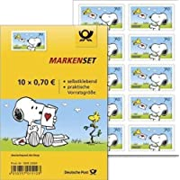 Markenset Peanuts Snoopy 10er Set 70 Cent selbstklebend Standardbrief Briefmarken