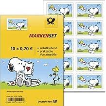 Markenset Peanuts Snoopy 10er Set 70 Cent selbstklebend Standardbrief Briefmarken