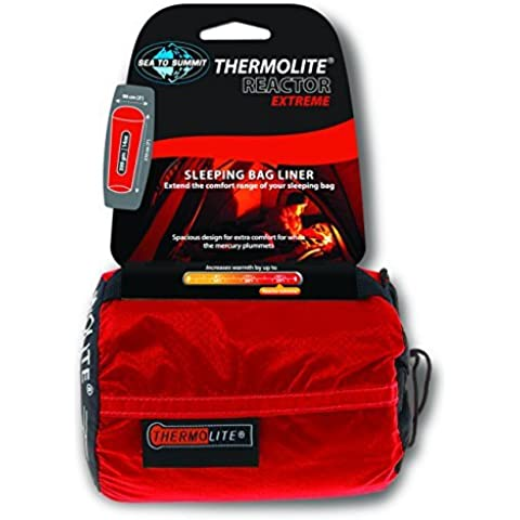 Sea To Summit Thermolite Reactor Extreme Sleeping Bag Liner - Red, 90 x 120 cm by Sea to Summit