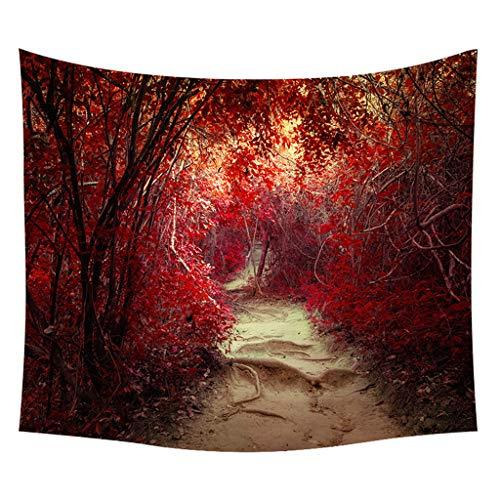 Xmiral Tapestries Picknickdecke Strandtücher 150cm X 200cm Wald Pflanze Landschaft Wandtuch Yogamatte(A)