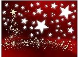 50 Stück selbstklebende, weiße Sterne gemischt Ø15 2cm, 70016 Fensterdekoration zu Weihnachten Fensterbild / Fensteraufkleber, Wandtattoo Sticker, Autoaufkleber, Weihnachtsdekoration, Schaufenster
