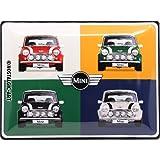 Nostalgic-Art 23254Mini de 4Cars Pop Retro Cartel de chapa | Vintage de cartel, decoración de pared, metal, 30x 40cm 30x 40cm, multicolor, 30x 40x 0.2cm