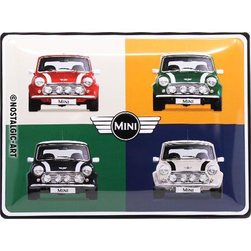 Nostalgic-Art 23254Mini de 4Cars Pop Retro Cartel de chapa   Vintage de cartel, decoración de pared, metal, 30x 40cm 30x 40cm, multicolor, 30x 40x 0.2cm
