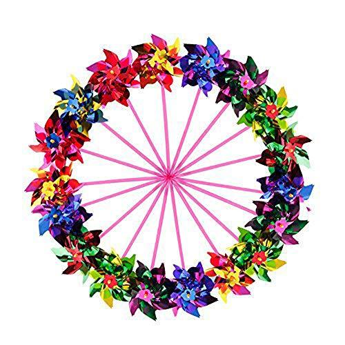 sohapy 20Stück verschiedene Farben Kunststoff Pailletten-Pinwheels, windmil Spinner für Party, Kinder Spielzeug, Garten, Rasen oder Decor