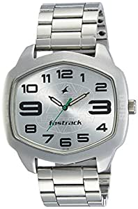 Fastrack Analog Silver Dial Men's Watch-3119SM03